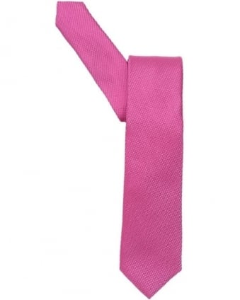 Mens Tie, Textured Plain Lilac Pink