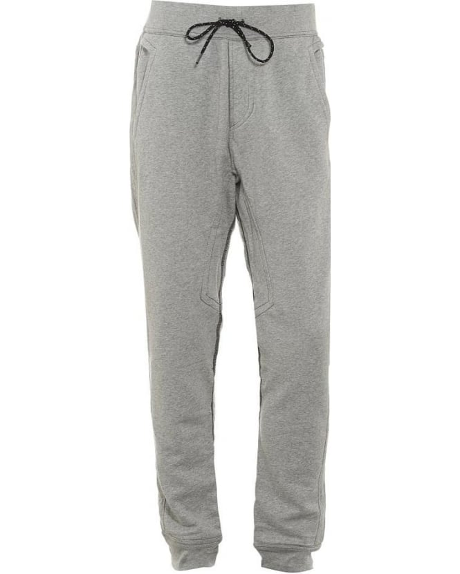 True Religion Jeans Mens Track Pants Cuffed Logo Heather Grey Trackpant
