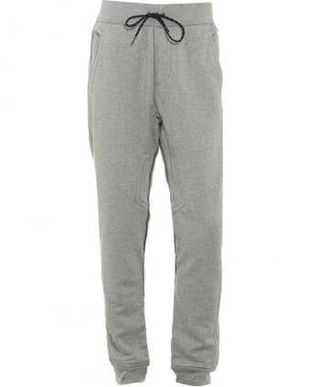 Mens Track Pants Cuffed Logo Heather Grey Trackpant
