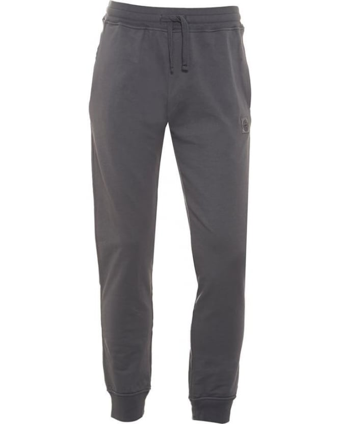 Stone Island Mens Track Pants, Grey Compass Logo Patch Sweatpants