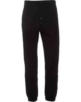 Mens Track Pants Hadiko Black Cuffed Tracksuit Bottoms
