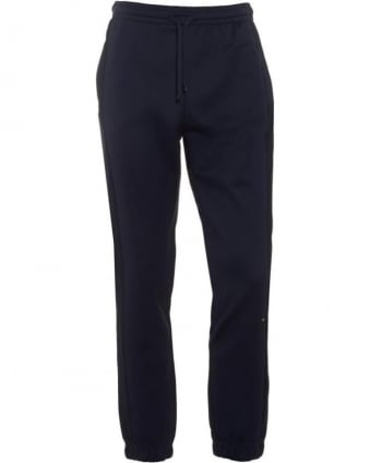 Mens Track Pants Hadiko Dark Blue Cuffed Tracksuit Bottoms