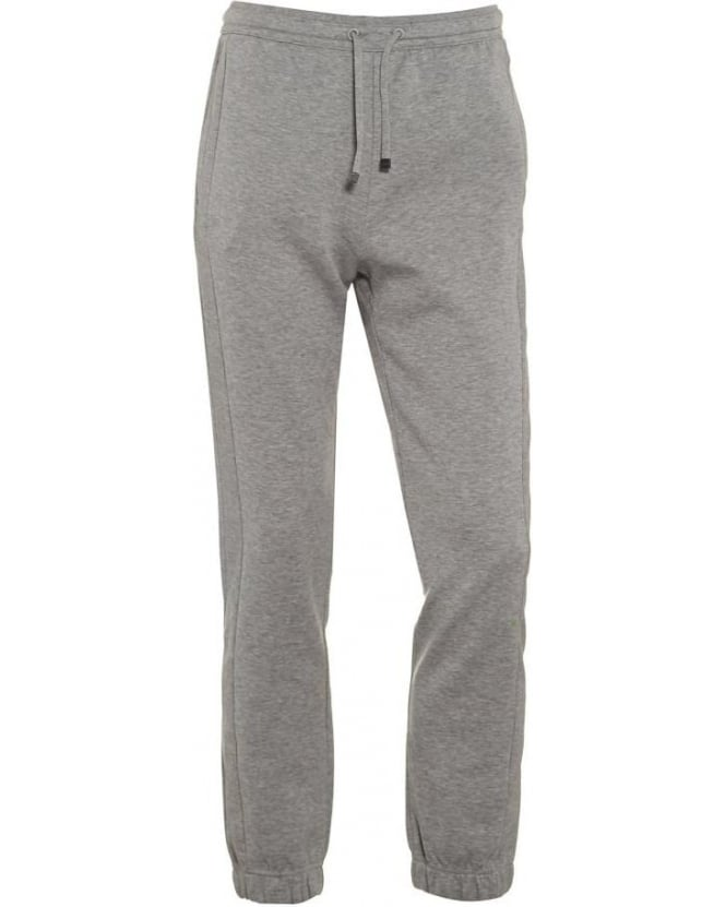 Hugo Boss Green Mens Track Pants Hadiko Light Grey Cuffed Tracksuit Bottoms