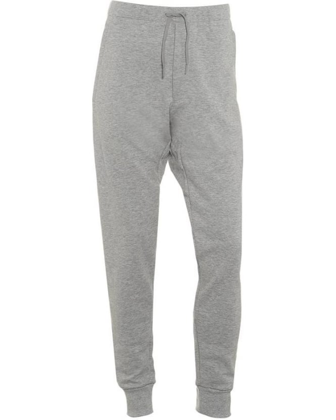Y-3 Mens Track Pants Heather Grey Tracksuit Bottoms
