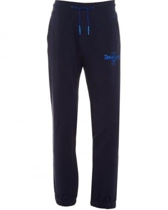 Mens Track Pants Loose Drawstring Navy Blue Joggers