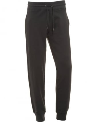 Mens Track Pants Navy Cuffed Tracksuit Bottoms