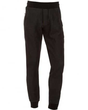 Mens Track Pants Tapered Fit Eagle Badge Charcoal Trackpant