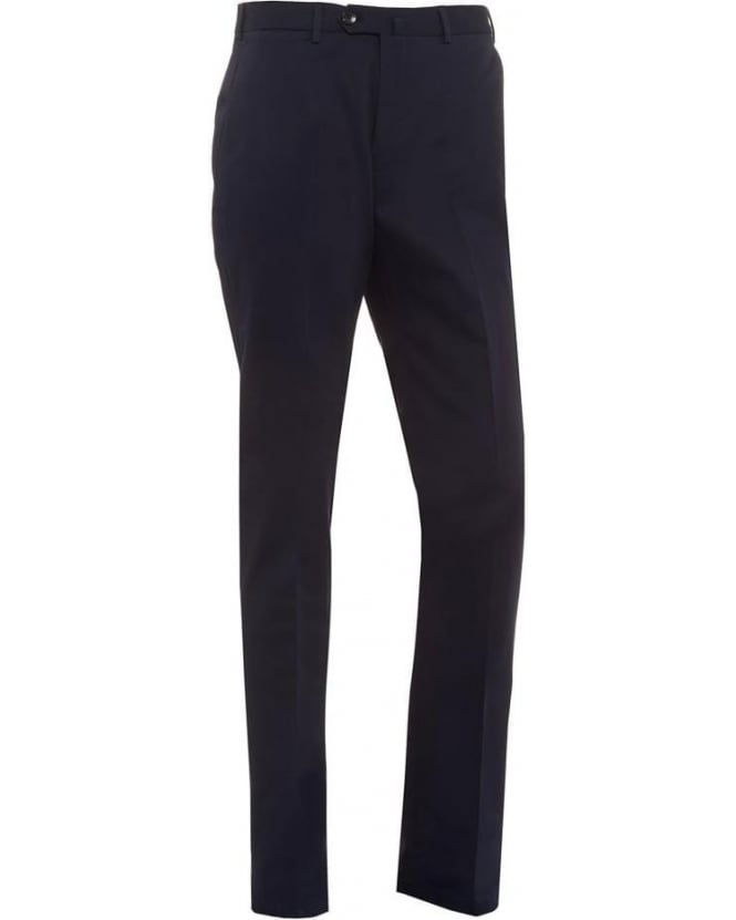 Armani Collezioni Mens Trousers, Navy Blue Wool Trousers