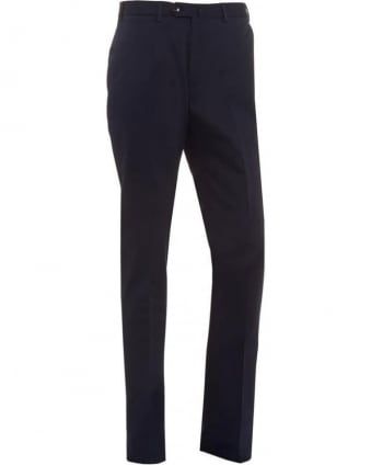Mens Trousers, Navy Blue Wool Trousers