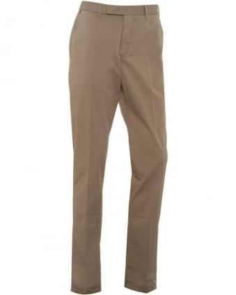 Mens Trousers, Stone Beige Slim Fit Chino