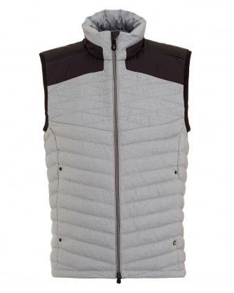 Mens Vaboko Gilet, Grey Two Tone Quilted Jacket