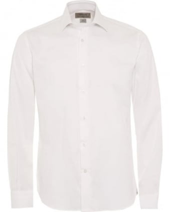 Mens White Slim Fit Shirt