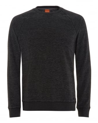 Mens Willie Jumper, Marl Black Sweatshirt