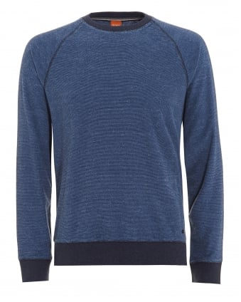 Mens Willie Jumper, Marl Blue Sweatshirt