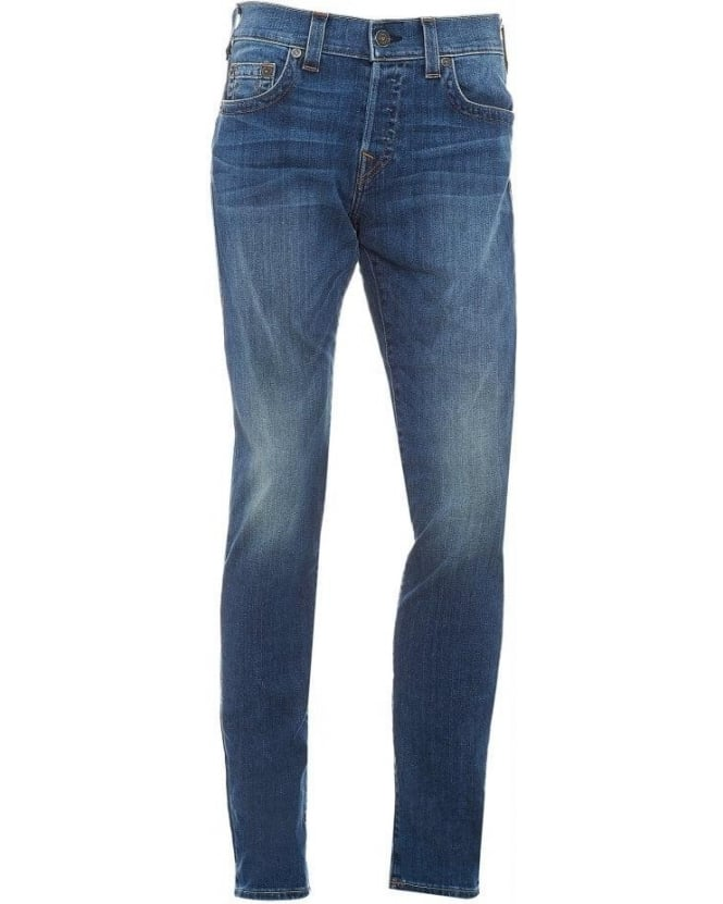 True Religion Jeans Mid Wash Blue Rocco Slim Fit Jean