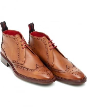 Misty Bonham Mens Mahogany Leather Chukka Boot