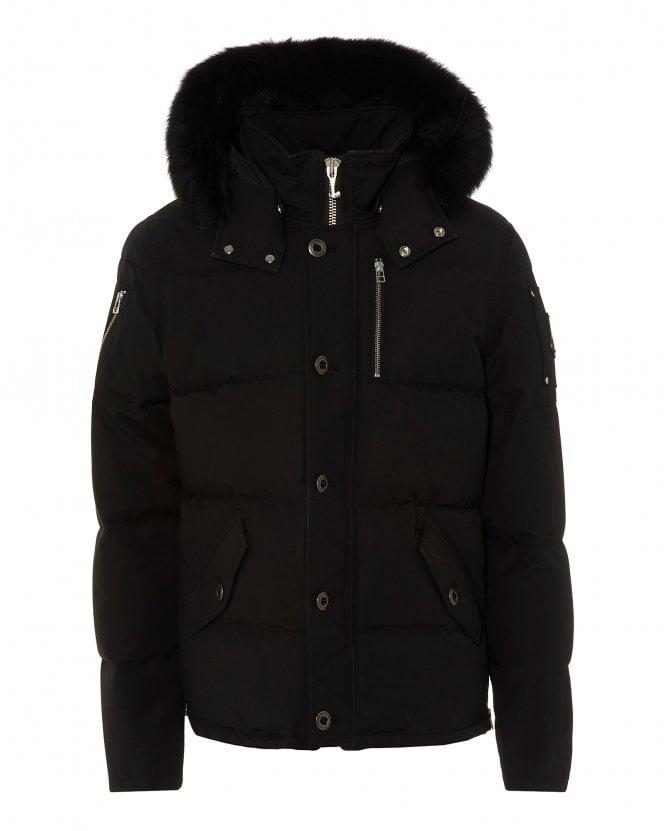 Moose Knuckles Mens 3Q Fur Hooded Black Parka Jacket