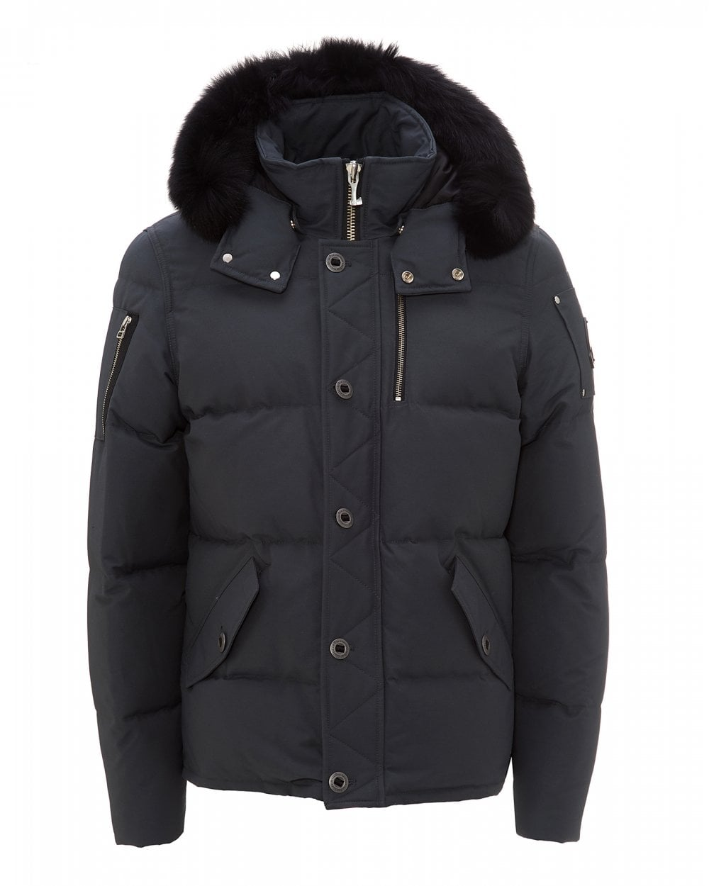 Moose Knuckles Black 3Q Fur Hood Jacket | eBay