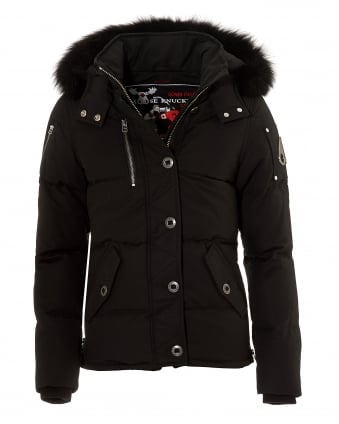Womens 3Q Jacket, Tailored Fit Water Repellent Black Coat