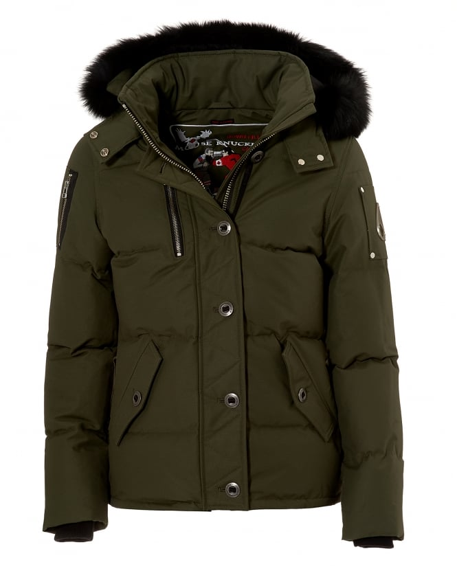 Moose Knuckles Womens 3Q Jacket, Water Repellent Olive ...