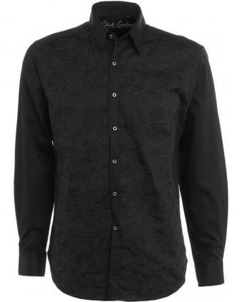 Mosaic Black Long Sleeve Shirt RF121061