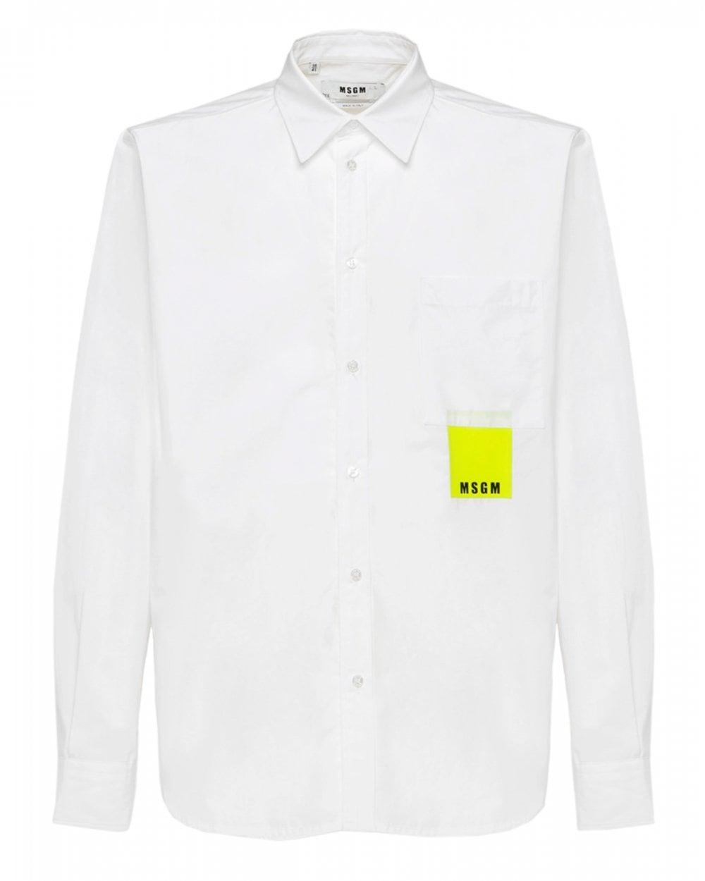 msgm-mens-white-neon-chest-pocket-shirt-