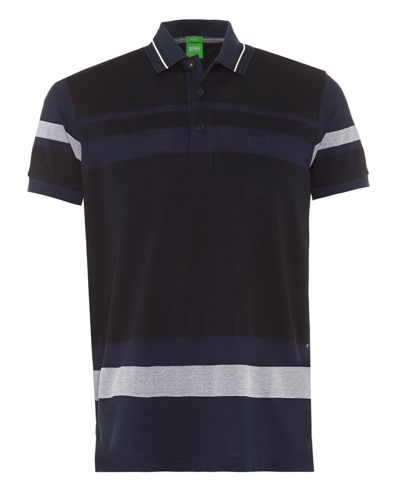 181f3fda0 Hugo Boss Green Mens Polo Shirt Paddy 1 Navy White Stripe Modern Fit