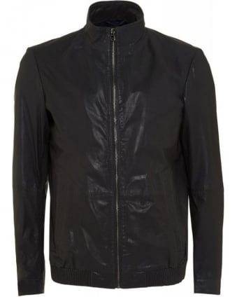 Nappa Biker 'Arthuro' Goatskin Navy Blue Leather Jacket