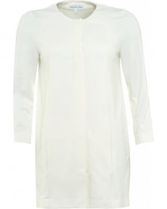 Natural White Dress Coat
