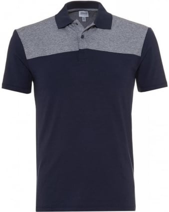 Navy and Grey Slim Fit Polo Shirt