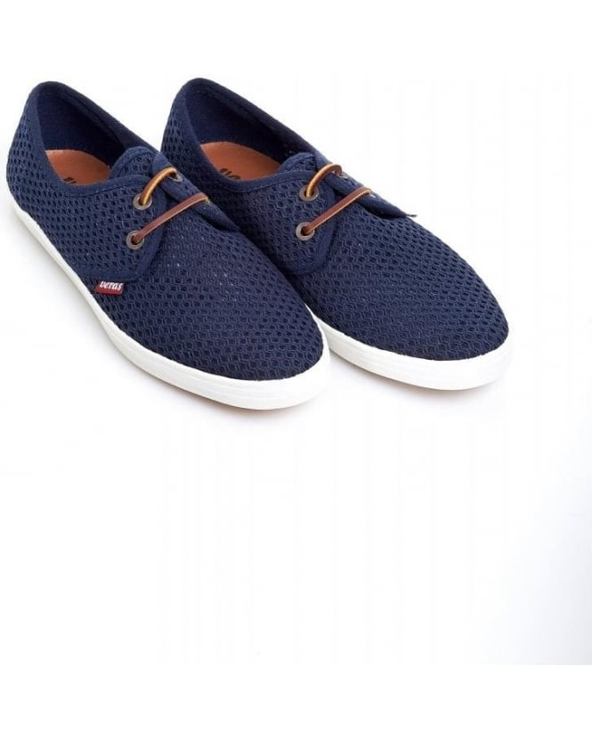 Veras Shoes Navy Blue 'Bilbao Mesh' Lace Up Shoes