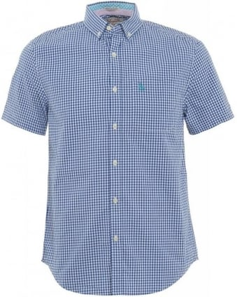 Navy Blue Gingham Heritage Slim Fit Shirt
