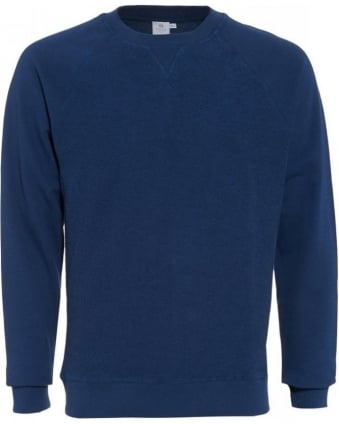 Navy Blue Long Sleeve Cotton Jumper