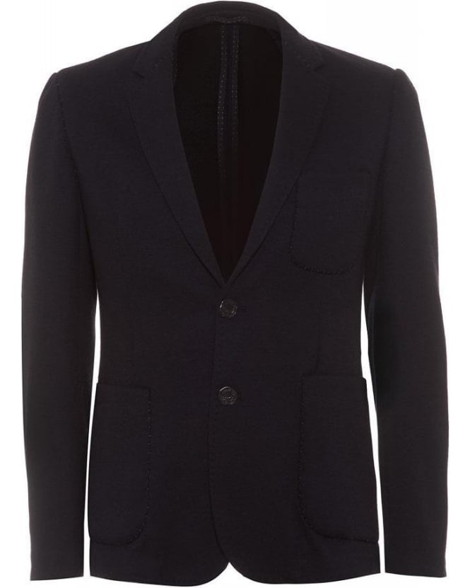 Holland Esquire Navy Blue Patch Pocket Blazer