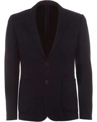 Navy Blue Patch Pocket Blazer
