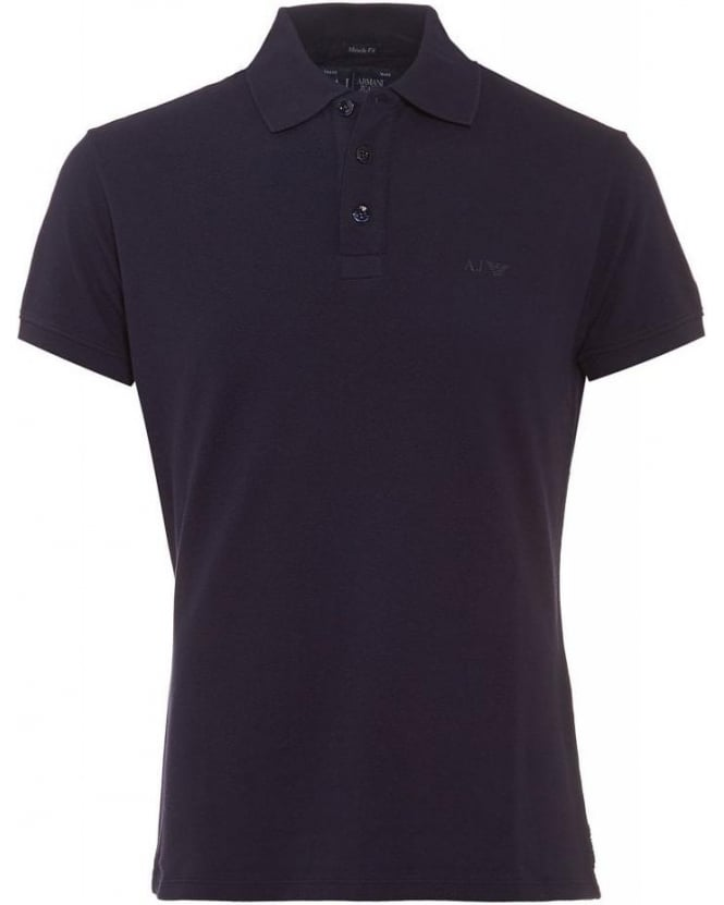 Armani Jeans Navy Blue Polo Shirt, Muscle Fit Polo