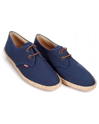 Navy Blue 'Seville Canvass' Lace Up Shoes