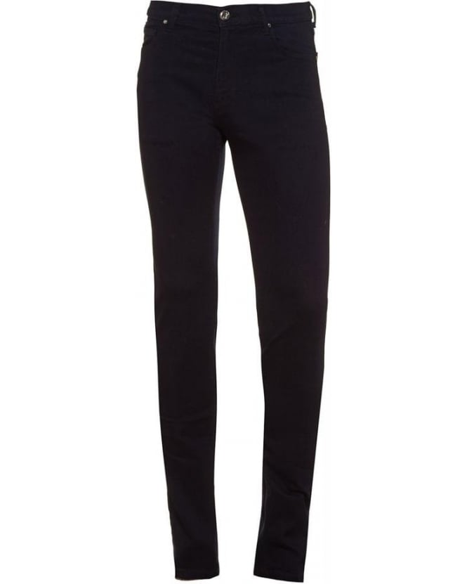 Versace Jeans Navy Blue Skinny Fit, Stretch-Cotton Jeans