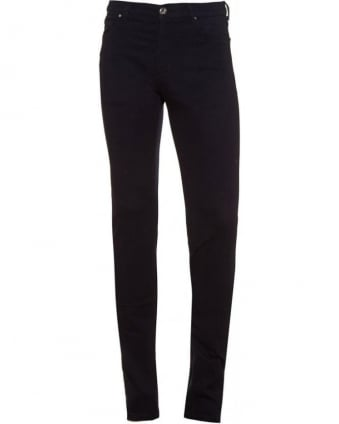 Navy Blue Skinny Fit, Stretch-Cotton Jeans