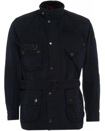 Navy Blue Steve McQueen™ Vintage Waxed Jacket