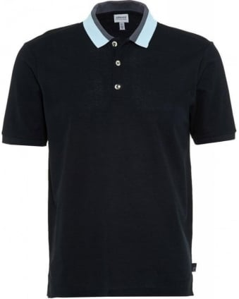 Navy Slim Fit Polo With Contrasting Collar Polo Shirt