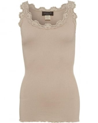 Nude 'Babette' Ribbed Vest Top