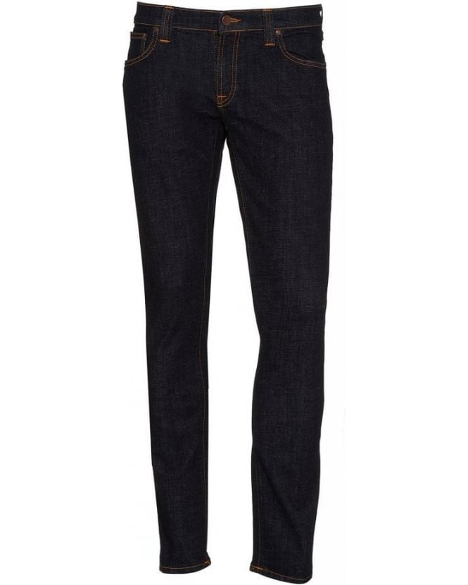 Nudie Jeans Dark Rinse Tight Long John Power Stretch Jeans
