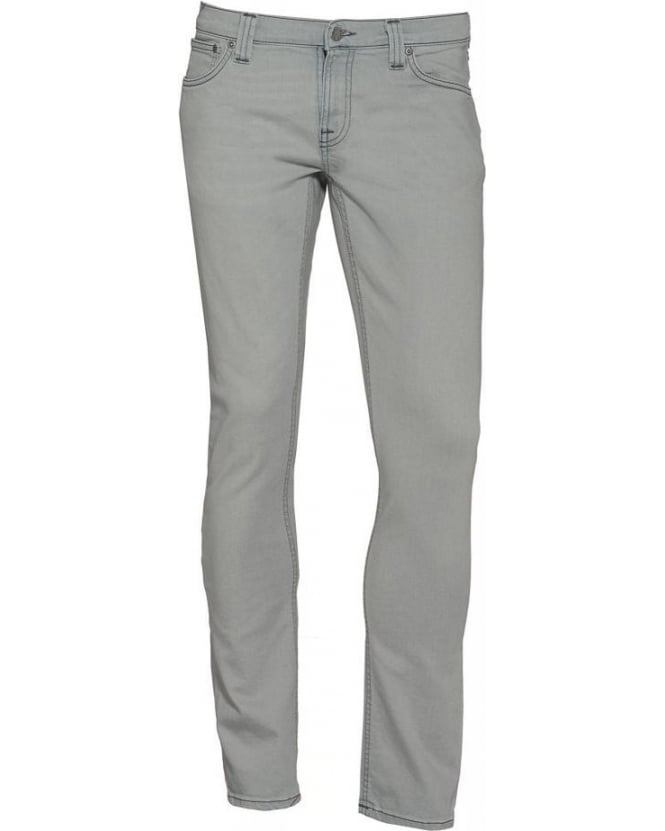 Nudie Jeans Grey Tight Long John Stretch Jeans