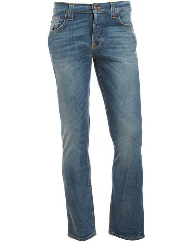 Nudie Jeans Light Wash, Indigo Grim Tim Jeans