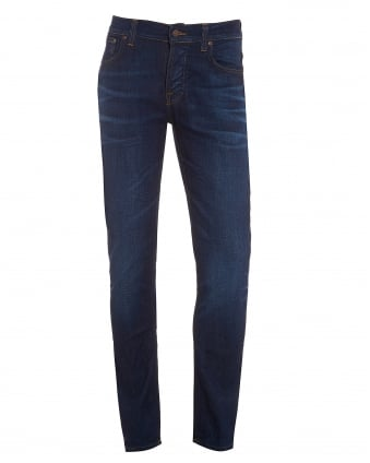 Mens Grim Tim Jean, Crispy Secret Dark Blue Organic Stretch Denim