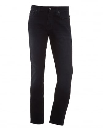 Mens Grim Tim Jean, Hidden Blue Black Organic Stretch Denim