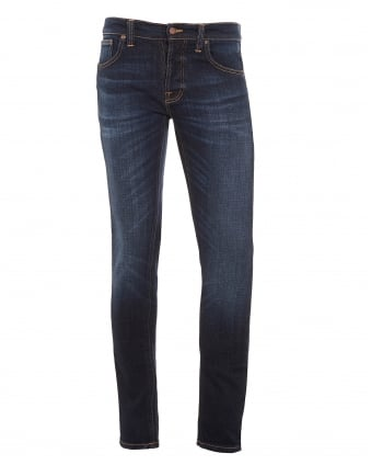 Mens Grim Tim Jeans Dark Sparkle Blue Denim