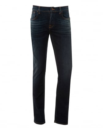 Mens Grim Tim Jeans, Endorsed Indigo Wash Denim