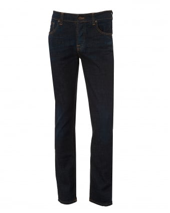 Mens Grim Tim Jeans, Indigo Layers Wash Slim Fit Denim